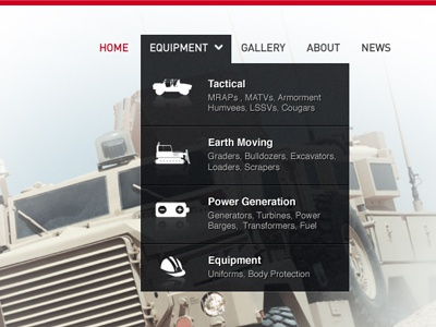 Dropdown menu ui website dropdown overlay nav navigation transparent drop down