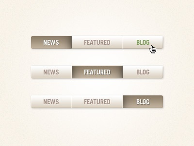 Tabs tabs ui navigation featured news blog button