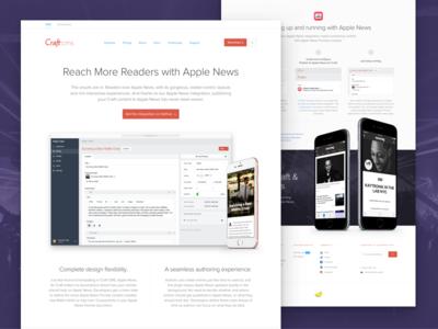 Apple News & Craft website landing cms ios iphone apple apple news craft