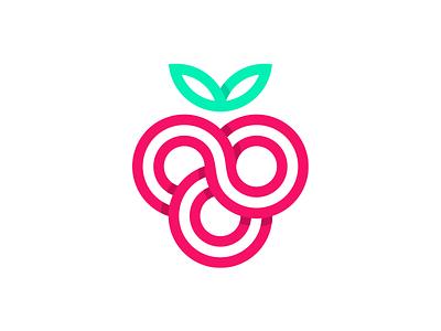 Wildberry berry brand mark identity logo wildberry