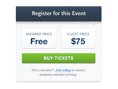 Register for this Event event calendar register torn paper leather widget ui ux button