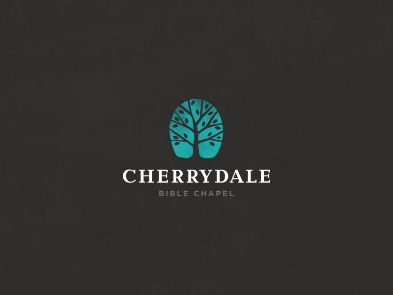 Cherrydale - Revised logo tree vector serif sans serif leaves teal