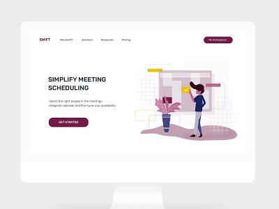 schedule a meeting - integrate calendar web deisgn ui branding screen interface illustration design