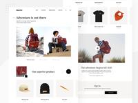 Climber site shopify shopping typhography ui  ux adventure simple clean white uiux uidesign climber climb shop ui web design web website