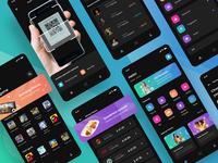 Mollet Apps uiux dark ui startup simple shopping shop black dark mobile ui mobile design mobile app mobile clean ui clean design app cleant ui place money wallet