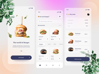 Delivery Apps burgers humberger ui ux design uiux uidesign startup shopping shopping app shop mobile ui mobile app design mobile app delivery burger food cleanui clean clean design branding app