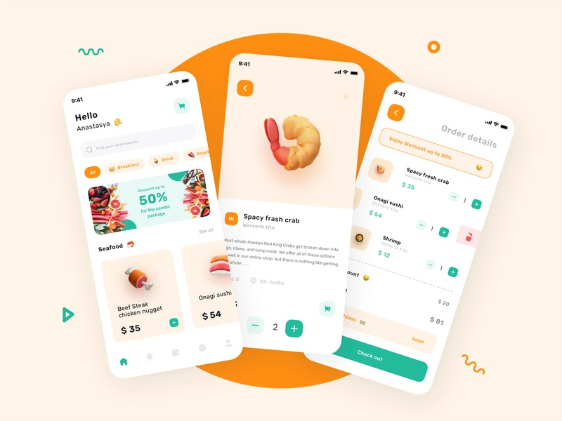 Foody 🍖 ui  ux uiux dailyui branding product design typhography online food delivery restaurant clean minimal foodie food app food and drink dribbble best shot design delivery delivery app food appdesigner appdesign