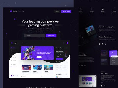 🎲 Hoxye Dark 🎲 dark app streaming stream webdesign ux ui uiux dashboard gaming website dark theme dark dark mode