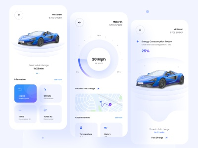 🚘 SmartCars Coming Soon 🚘 ux minimal nature uiux ui concept energy remote battery car cars charge future smartcars navigation