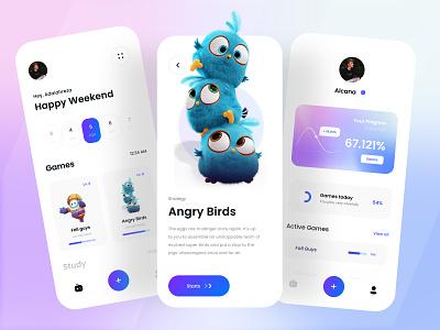 Study Games Proto 🎲 iphone minimal ux ui  ux uiux clean gradient simple ui gaming game games