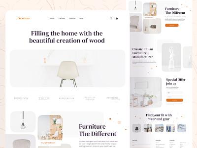 🛍️ Furniture Landing Page 🛍️ web website design header furniture website furniture shop landingpage simple clean typography website minimal ui