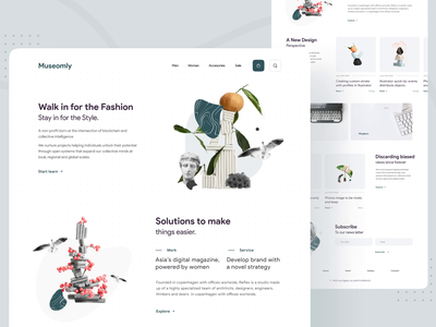 🏺 LandingPage - Museom 🏺 branding web minimal clean animation website ui museum of art museum