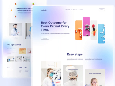 😷 LandingPage - Medical 😷 branding minimal web landingpage animation clean uiux ui doctor hospital medical medic simple