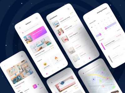 🏨 BokRoom Apps 🏨 uiux ui minimalist minimal clean product design mobile ui mobile mobile app holiday travel hotel room booking trip home house