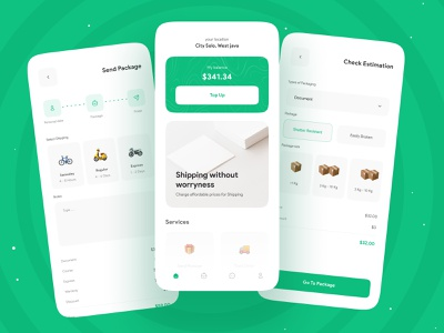📦 Shiphub - Shipping Apps UI Kit 📦 branding brand identity clean minimal uiux ui shipping management freight logistics service courier service courier app shipping box shipping