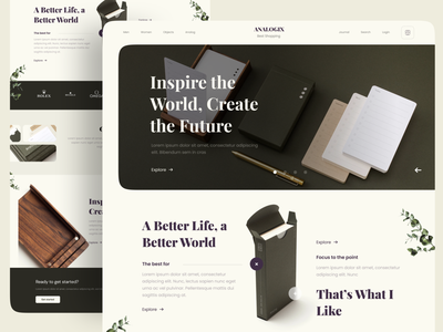 ANALOGIX - Product Web sale book notebook note product design website clean branding uiux minimal ui