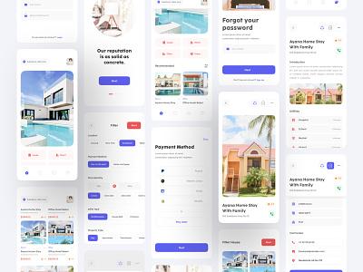 Real Estate Apps Kit house home estate real realestate design website clean branding uiux minimal ui