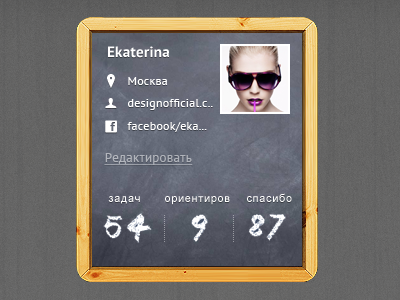 Part of 'profile page' for upcoming project design portfolio shopping