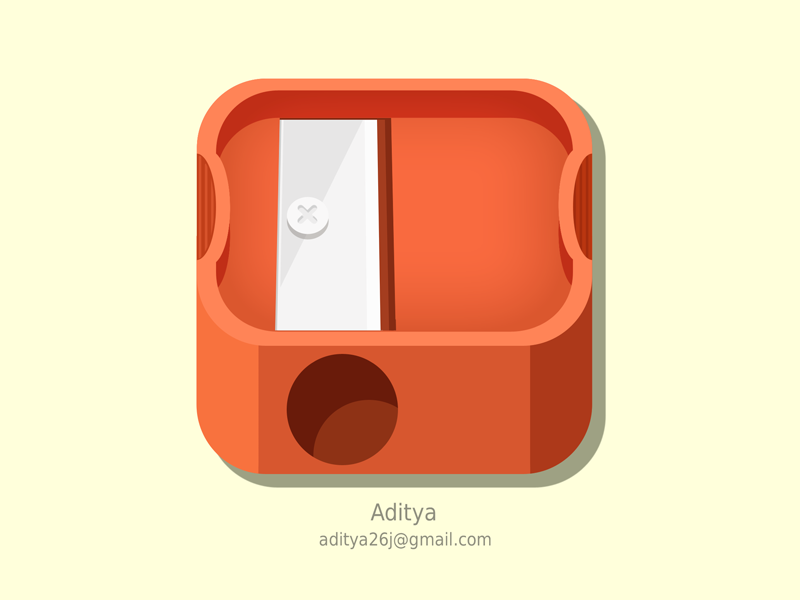 Sharpener ios icon vintage plastic subtle icon user ios sharpener best new blade cool iphone flat ui graphics app interface pencil fun retro sharp stationery