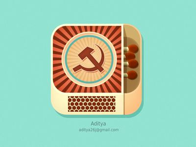 Matchbox ios app flat icon