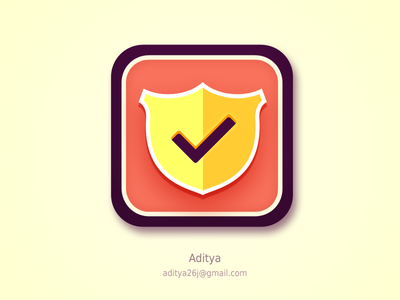 Shield flat ios app icon shield ios icon flat subtle clean new awesome ui app sale purchase color design graphics interface buy best popular cool ios7 logo secure security ux vintage beautiful 7 lock