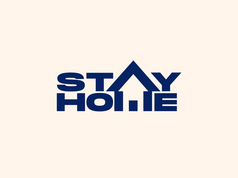 Stay Home Stay Safe home logo design logo designer covid19 corona virus corona stay home monogram logotype symbol branding identity logo