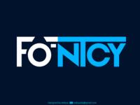 'Fontcy' logo design for ios app