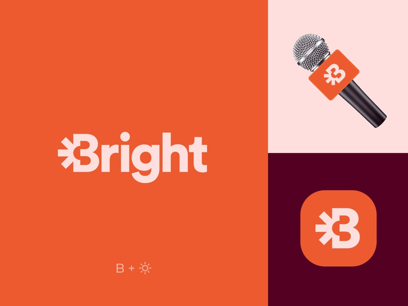 Logo and Brand Identity Design for BRIGHT News. typography identity  trend social smart business top brand simple media idea wordmark portfolio company logotype guide modern logo designer logo design nyc inspiration logos symbol good best freelance logotype custom font mark brand book creative logos corporate news startup website services clean logos icons colors ideas branding process web graphic