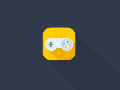 'Nintendo' video game remote iOS Flat App Icon Concept