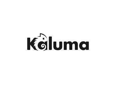 Chameleon Logo ( kaluma ) logo designer clever logo identity logomark mark negative space symbol brand typography wordmark logotype branding animal logo animal chameleon chameleon logo logo design logos icon