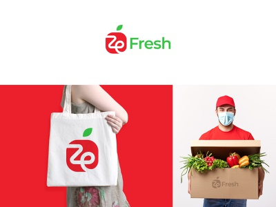 ZeFresh Logo Design o p q r s t u v w q y z a b c d e f g h i j k l m n 1 2 3 4 5 6 7 8 9 0 logomark brand grocery branding farm fresh vector food fruits health healthy icon organic typography marketing logo vegetables logo design logo designer logos