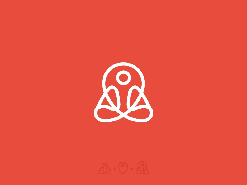 Yoga Place Logo / Mark logo icon mark pin best minimal inspiration yoga flat brand identity branding