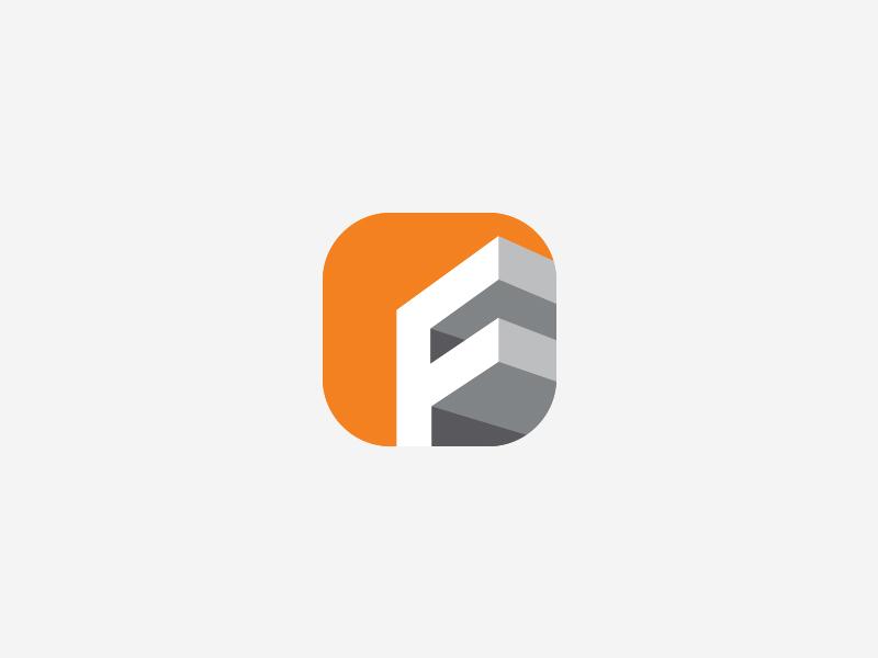 Frontline Constructions App Icon By Aditya Logo