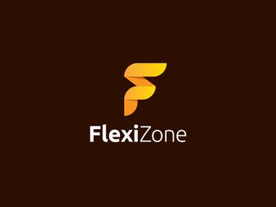 Flexizone Final Logo negative space flat minimal letter logotype f inspiration inspirational best illustration beautiful best creative idea clever awesome brand branding identity logo icon symbol