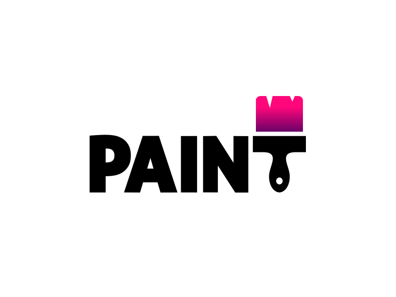 Paint logo by aditya logo designer dribbble for Painting and decorating logo ideas