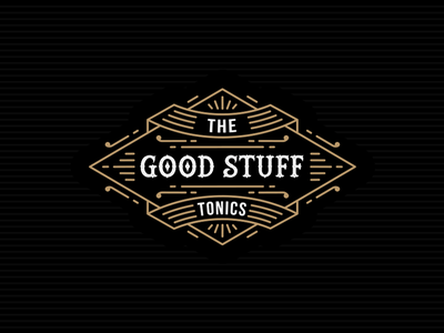 The Good Stuff Tonics - Logo fantastic clever  modern logo icon branding identity hipster creative design fabulous drink black beautiful great superb awesome vintage logos