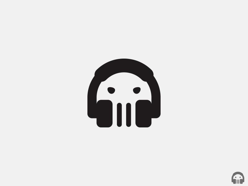 skullcandy logo concept   headphone   skull   by aditya