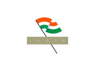 Indian Flag illustration colors design designer graphic ahmedabad indian country flag flat india
