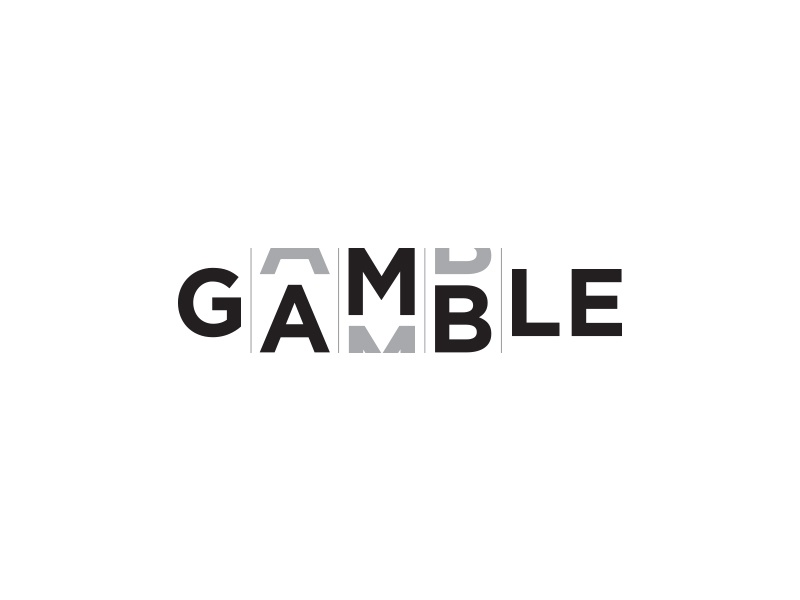 Gamble Logo branding identity casinos illustration sketch negative space awesome creative logos idea clever song casino black white gambling fabulous clever logotype superb roulette illustration minimal flat logo icon brand best gamble slot