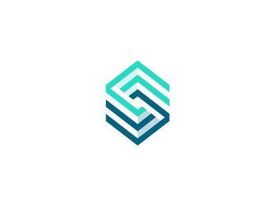 CodeStrategy Logo / Mark minimal illustration symbol monogram mark logotype logo identity grid