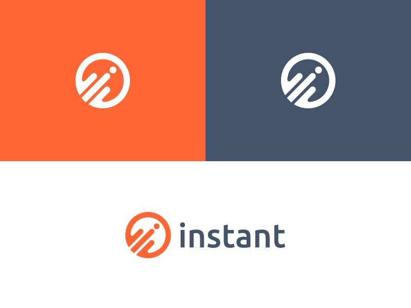 Instant Logo logo money logotype monogram branding symbol identity illustration quick payment icon