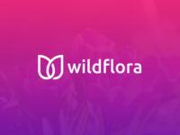 WildFlora Logo  ( W + flower )