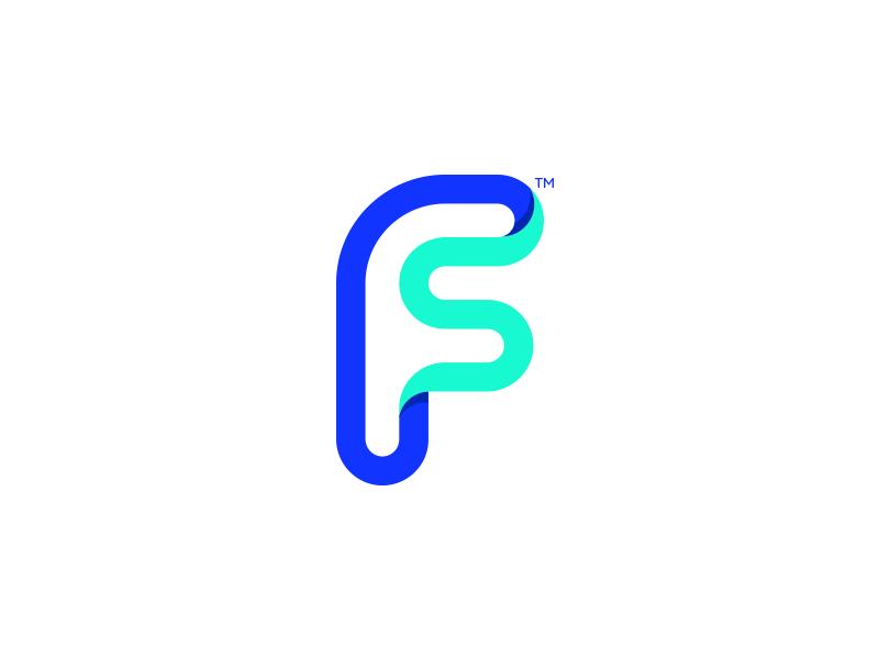 F - S Mark / Logo logogrid minimal s illustration monogram symbol mark identity branding idea icon logo