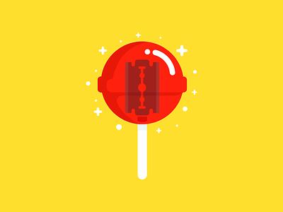 Some politicians are like this Lollipop :D creative blood identity logo branding food colors illustration lollipop