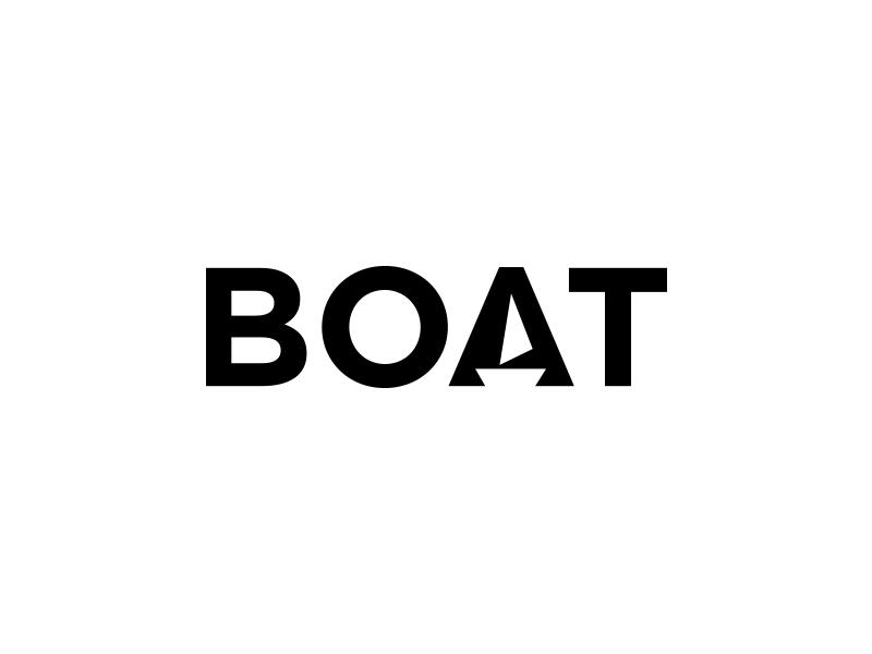 BOAT sea boat simple minimal logotype idea branding illustration identity mark icon logo