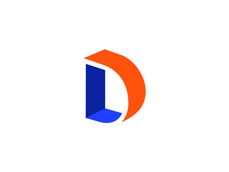 L & D Logo illustration monogram symbol mark identity branding idea icon logo negative space