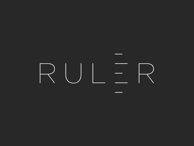 Ruler ( ver.2 ) clever logos symbol monogram mark logo illustration identity idea ruler icon branding