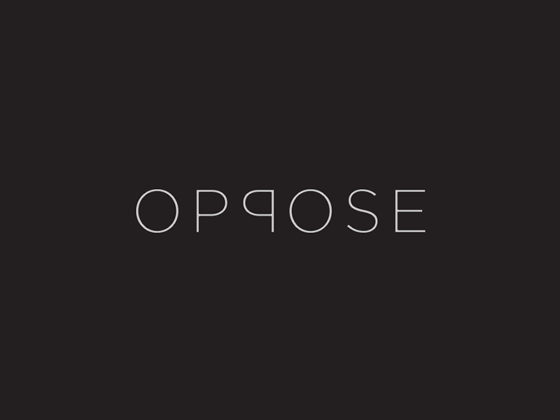 Oppose - Wordmark wordmark symbol oppose monogram mark logo illustration identity idea icon logos clever