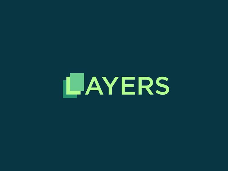 Layers Logo man layers logo icon idea branding identity mark symbol monogram illustration