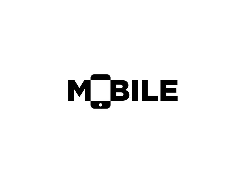 Mobile logo wordmark by aditya logo designer for Mobile logo